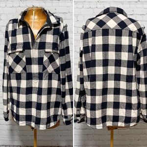 J. Crew Buffalo Check Shirt Jacket EUC